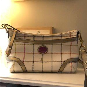 Coach Multi Tattersall Plaid Small Crossbody Bag